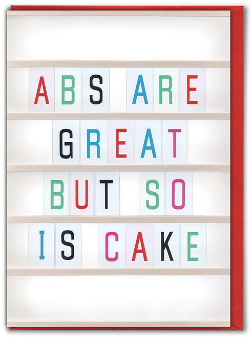 Abs Are Great Birthday Card