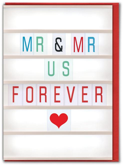 Mr & Mr Us Greetings Card