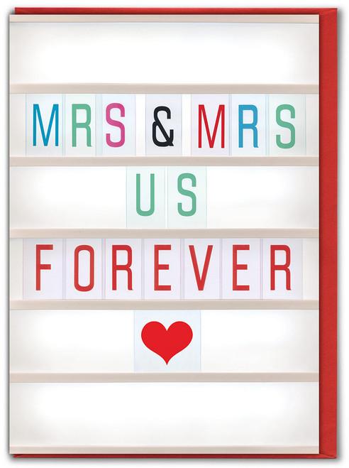 Mrs & Mrs Us Greetings Card