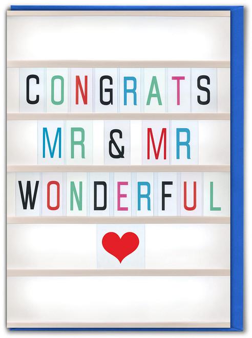 Congrats Mr & Mr Greetings Card