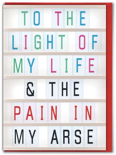 Light Of My Life Anniversary Card