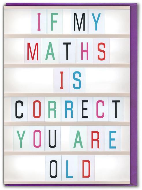 Maths Correct Birthday Card