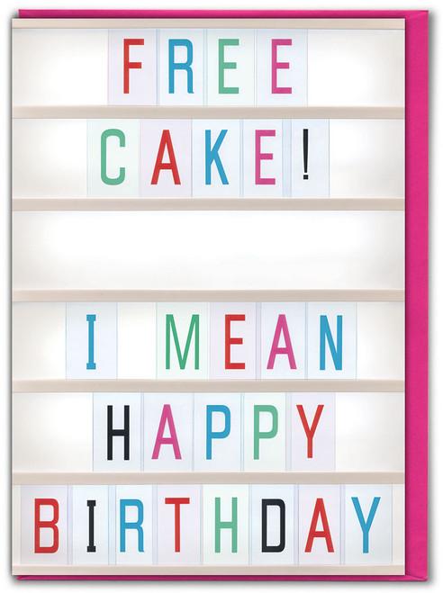 Free Cake Birthday Card