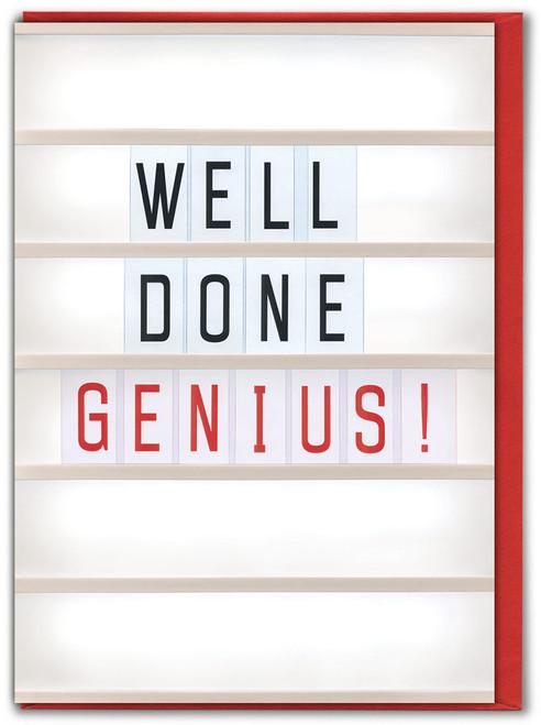 Well Done Genius Greetings Card