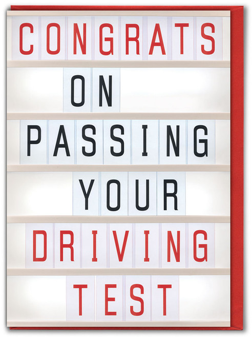 Congrats Passing Driving Test Card