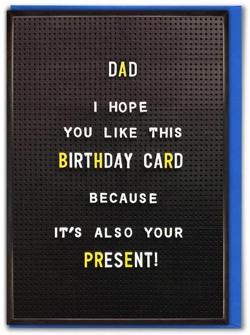Dad Birthday Card Present Greetings Card