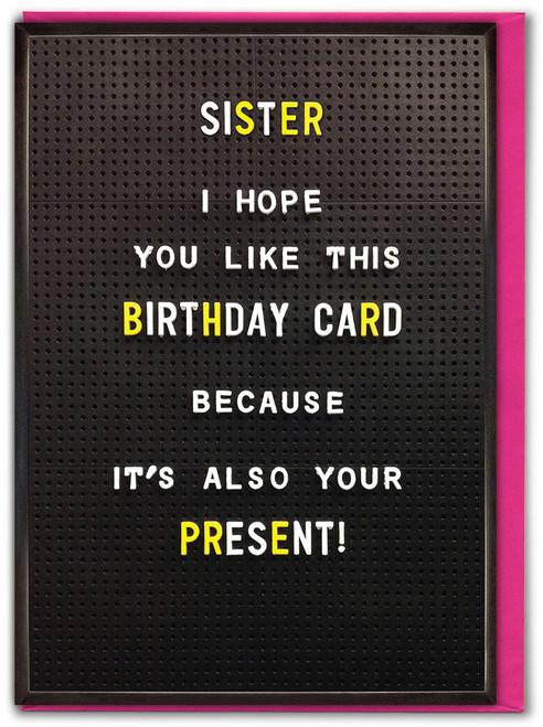 Sister Birthday Card Present Greetings Card