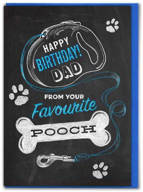 Dad Birthday From Pooch Greetings Card
