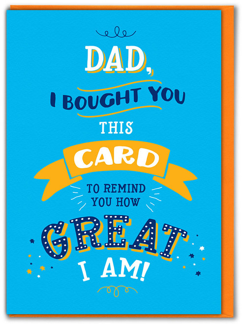 How Great Birthday/Father's Day Card