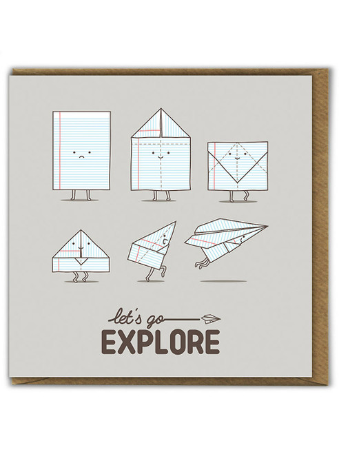Lets Go Explore Greetings Card
