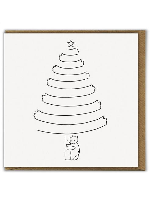 Season Of Hugs Cute Christmas Card