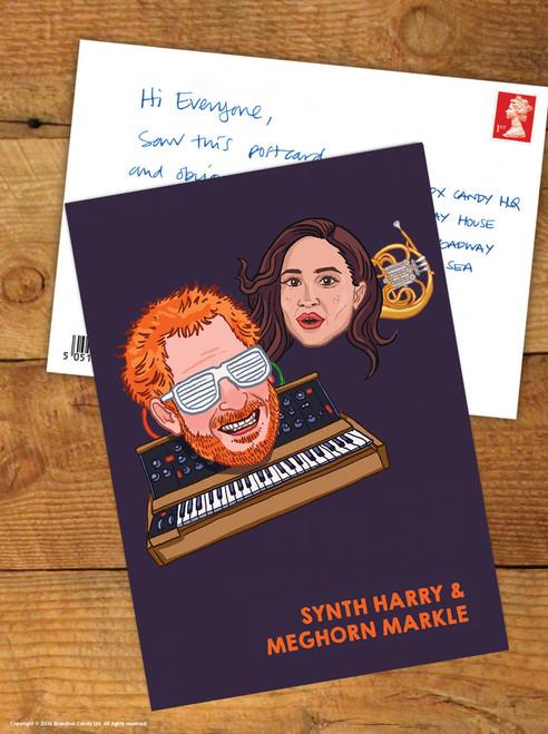 Synth Harry & Meghorn Markle Postcard