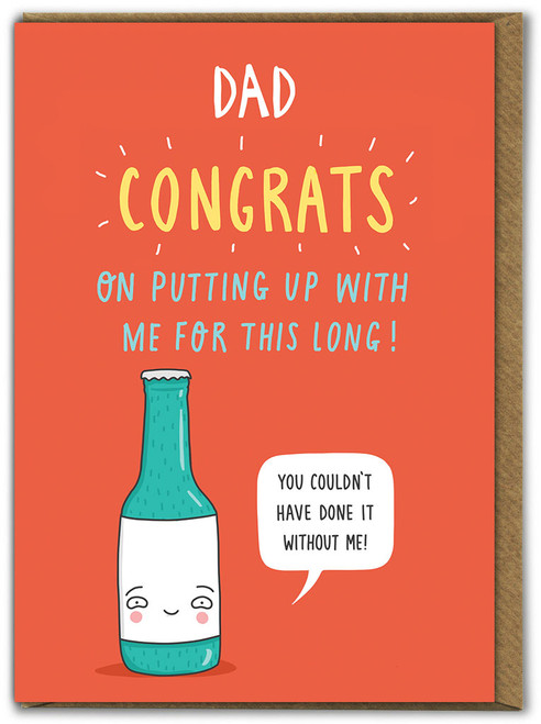 Putting Up With Me Father's Day Card