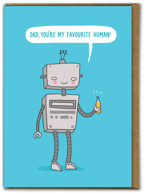 Dad Favourite Human Father's Day Card