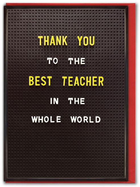 Best Teacher Whole World Card