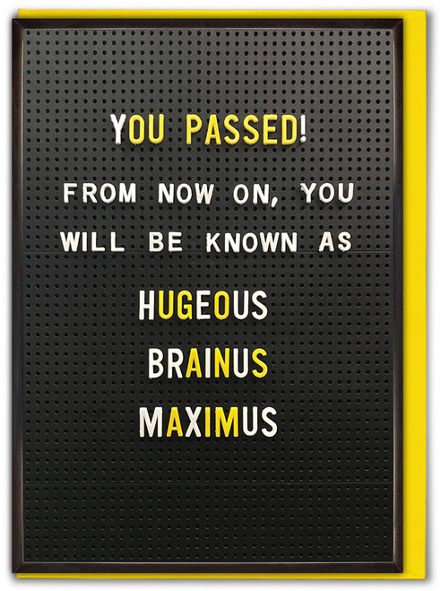 Hugeous Brainus Maximus Congratulations / Exams / Graduation Card