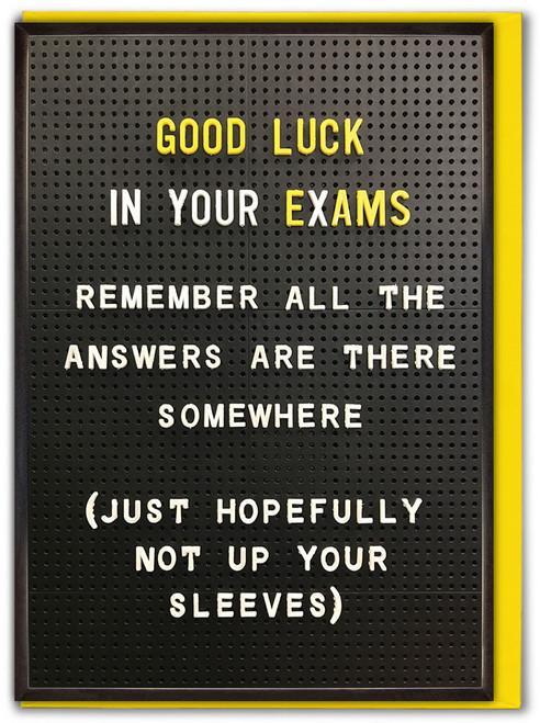 Answers Up Sleeve Good Luck Exams Card