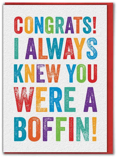 Congrats Boffin Exams / Graduation Card