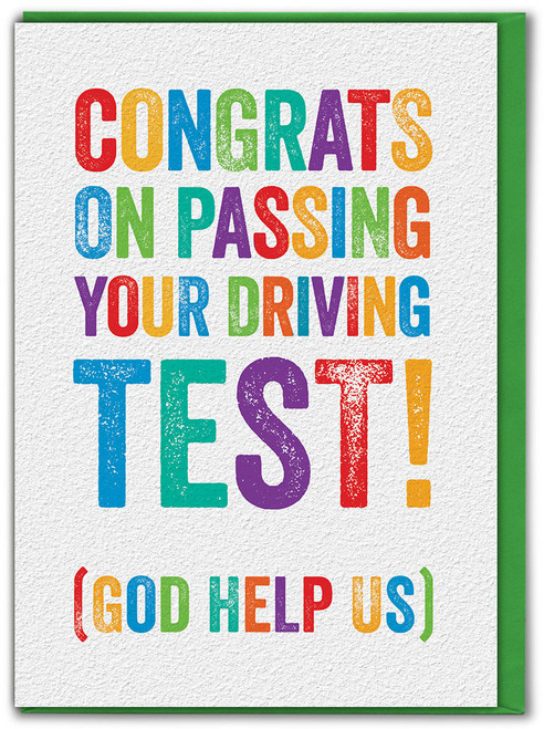 Passed Driving Test Card