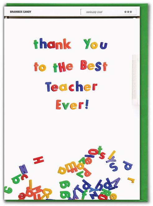 Thank You Best Teacher Ever Card