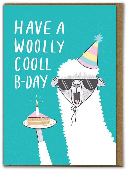Woolly Cooll B-Day Birthday Card