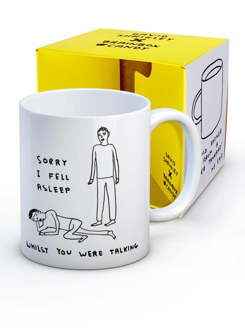David Shrigley Fell Asleep Talking Boxed Mug