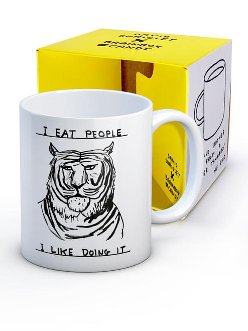 David Shrigley I Eat People Boxed Mug