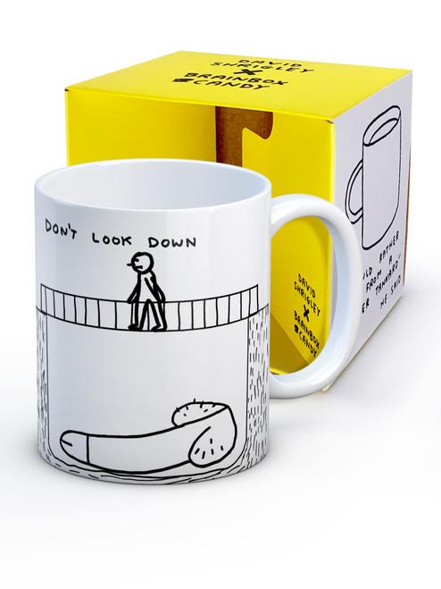 David Shrigley Don't Look Down Boxed Mug