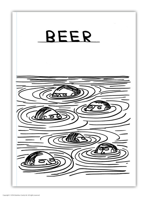 David Shrigley Beer Swimmers A6 Notebook / Notepad