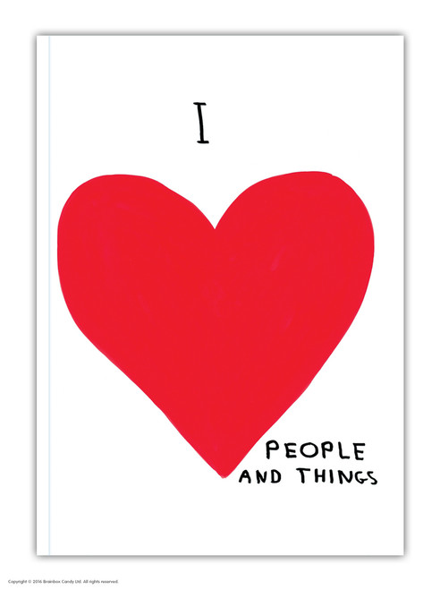 David Shrigley I Love People A6 Notebook / Notepad
