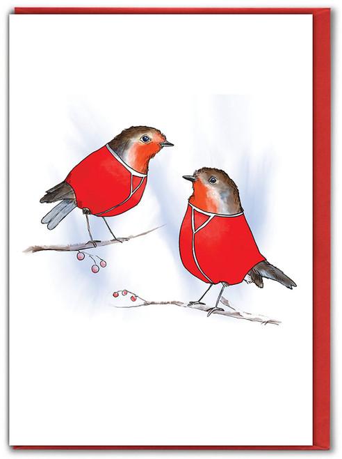 Robin Red Pants Christmas Card