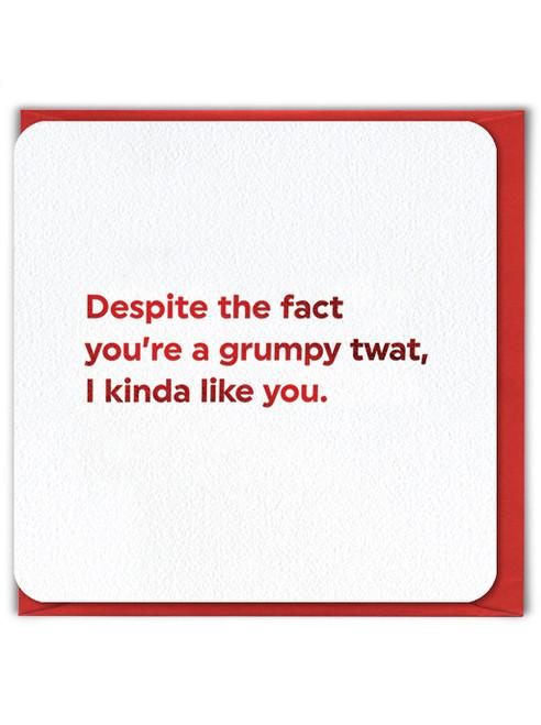 Grumpy Twat (Red Foiled) Valentine's Day Card