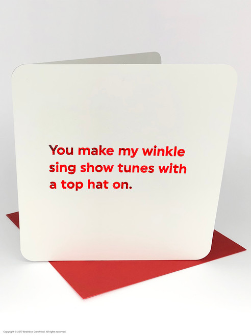 Winkle Show Tunes (Red Foiled) Valentine's Day Card