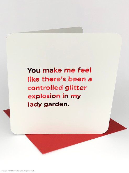 Lady Garden Explosion (Red Foiled) Valentine's Day Card