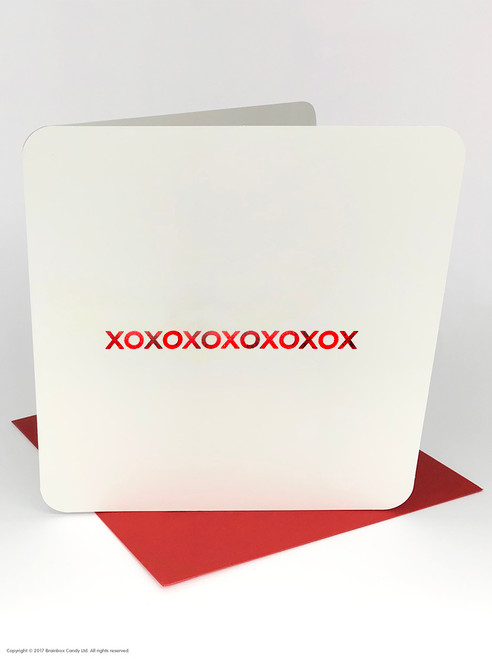 XOXOXOX (Red Foiled) Valentine's Day Card