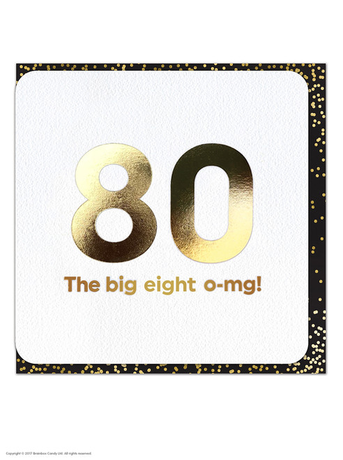 80th (Gold Foiled) Birthday Age Card