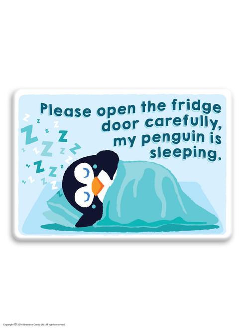 My Penguin Is Sleeping Fridge Magnet