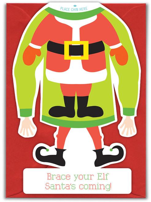 Brace Your Elf Christmas Card