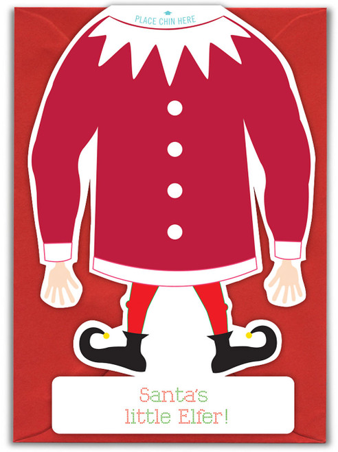 Santa's Little Elfer Christmas Card