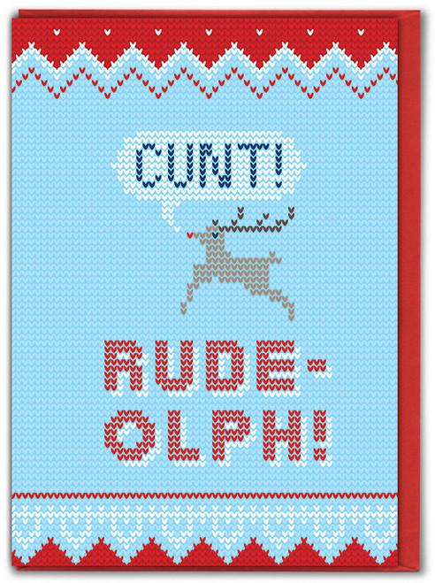 Rude-olph! Christmas Card