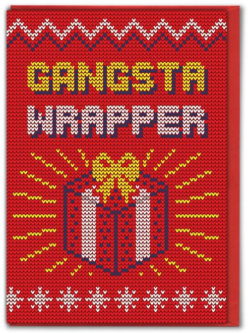 Gangsta Wrapper Christmas Card