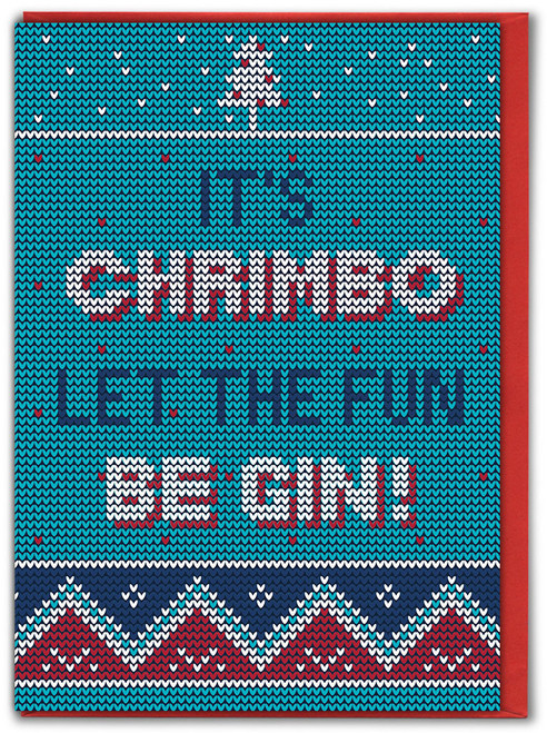 Chrimbo Fun Be Gin Christmas Card