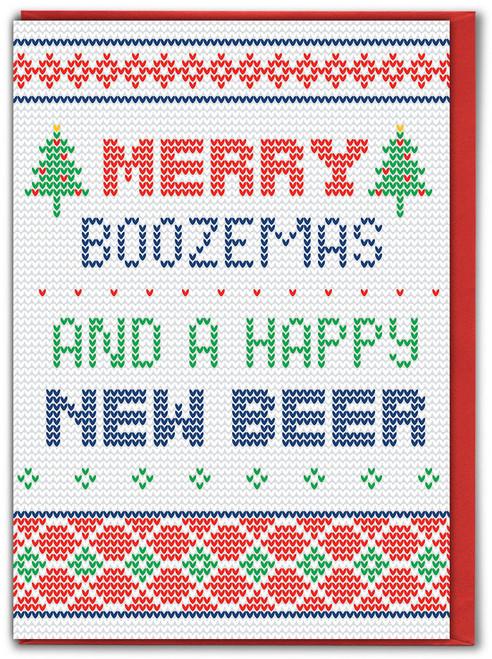 Merry Boozemas Christmas Card