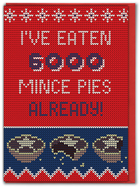 6000 Mince Pies Christmas Card