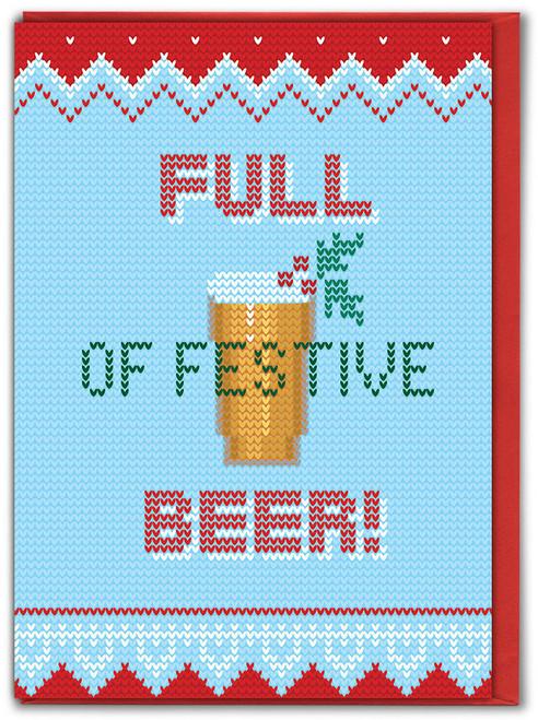 Festive Beer Christmas Card