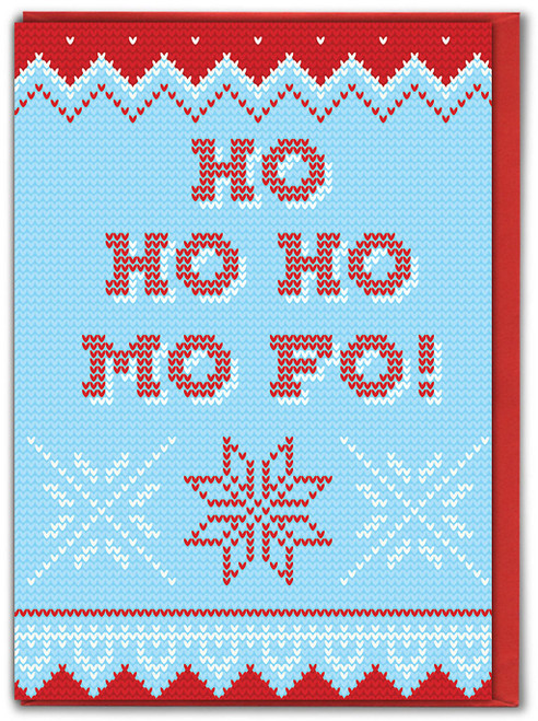 Ho Ho Ho Mo Fo Knitwit Christmas Card