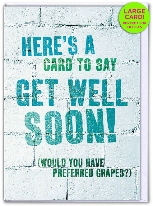 Get Well Grapes (Large Card)