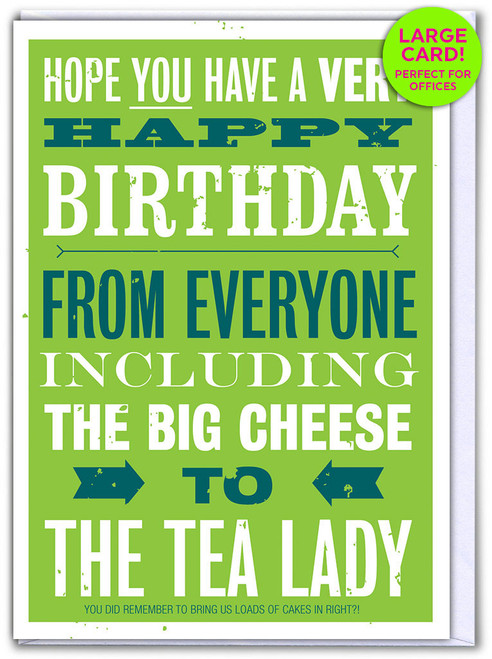 Birthday From Everyone (Large Card)