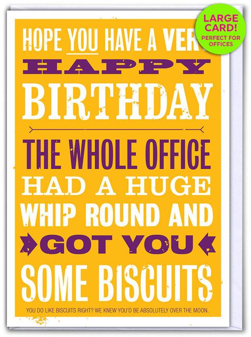 Birthday Whip Round (Large Card)