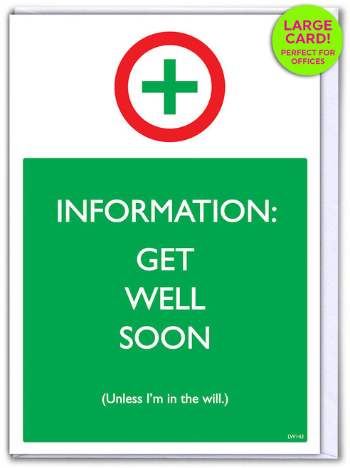 Get Well Soon (Large Card) (LW143)